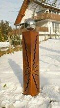 Gartendeko Rost Rostsäule 80 cm mit