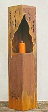 Gartendeko Rost Säulen Fackel Laterne Feuersäule