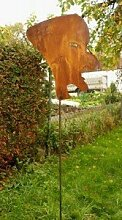 Gartendeko Rost Skulptur Gustl 200cm hoch