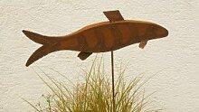 Gartendeko Rost Skulptur schöner Fisch 120cm*