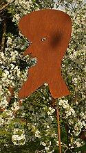 Gartendeko Rost Skulptur THOMAS 200cm hoch