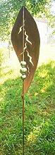 Gartendeko Rost Stecker Blatt Stecker mit 3
