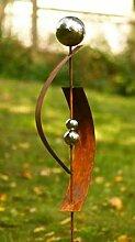 Gartendeko Rost Stecker Lieblingsstab 120 cm mit 3