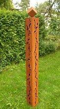 Gartendeko Rostsäule 150cm mit Risse und Würfel*