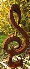 Gartendeko Rostsäule Skulptur Musik
