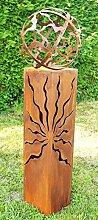 Gartendeko Rostsäulen Fackel 100 cm Sanny mit
