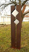 Gartendeko Rostsäulen Säule Windspiel schöner