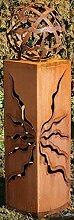 Gartendeko Rostsäulen schöne Fackel 80cm mit