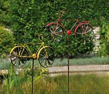 Gartendeko rotes Fahrrad Garten Windrad Bike Rad