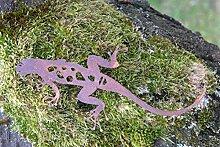 Gartendeko Salamander mit Dorn Baumtier Metall Rost Deko