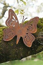 Gartendeko Schmetterling mit Dorn Metall Rost Deko