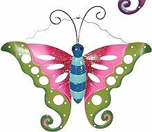 Gartendeko Schmetterling versch. Farben, Farbe:pink