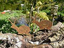 Gartendeko Schnecke mit Dorn Baumtier Metall Rost Deko
