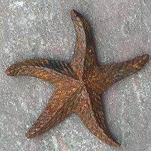 Gartendeko Seestern Gusseisen 14cm x 13cm Metall Rost Deko