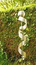 Gartendeko Skulptur Lea 120cm Spirale Edelstahl
