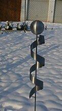 Gartendeko Skulptur Marta 120cm Spirale Edelstahl*