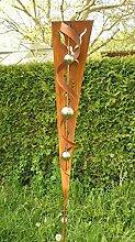 Gartendeko Skulptur Rost Stecker mit Glanz