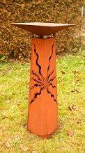 Gartendeko Stehle Rost Säule 125cm konisch mit