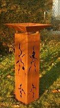 Gartendeko Stehle Rostäule 100cm mit Schale zum