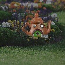 Gartendeko Teekannenhaus Cutright Happy Larry