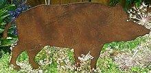 Gartendeko Wildschwein Eisen