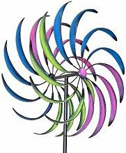 Gartendeko Windrad groß, Höhe 210cm, Durchmesser 60 cm