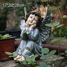 Gartendekoration Engelchen Harz Charakter Garten
