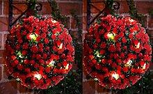 Gartendekoration Rosen-Buchsbaumkugel zum