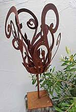 Gartendekorationen-Shop Edelrost Windlicht Fackel