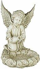 Gartenengel Gartendeko Engel mit Krug Vogeltränke