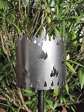 Gartenfackel Flamme inkl. Holzspänefackel