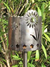 Gartenfackel Gänseblümchen inkl. Holzspänefackel