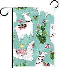 Gartenfahne,Alpaca Llama-Pflanze. ,Outdoor Banner