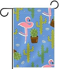 Gartenfahne,Muster der Pflanze Flamingo ,Outdoor