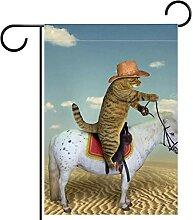 Gartenfahne,Pferdekatze Cowboy-Pflanze in der