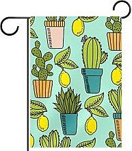 Gartenfahne,Pflanze und Zitrone. ,Outdoor Banner