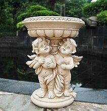 Gartenfigur 34 cm Hoch Engel 16030A Gartendeko Pflanztopf Blumentopf Blumenschale