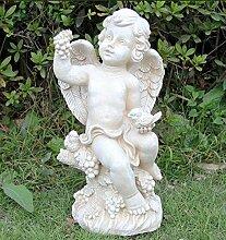 Gartenfigur 38 cm Hoch Engel NF50266 Gartendeko