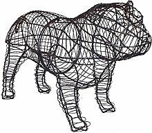 Gartenfigur Bulldogge Drahtgestell zum selbst gestalten