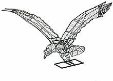 Gartenfigur fliegender Adler 76 cm breit Gartendeko