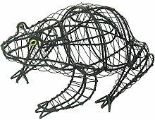 Gartenfigur Frosch Buxus-Figur Moos Efeu 36 cm