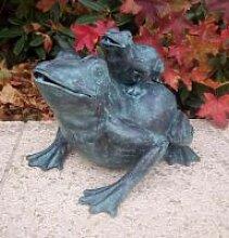 Gartenfigur Frosch mit Baby