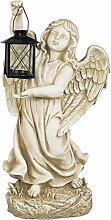 Gartenfigur Grabengel Grabschmuck Engel mit