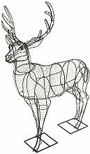 Gartenfigur Hirsch Drahtgestell 66 cm hoch