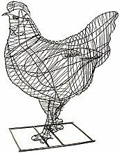 Gartenfigur Huhn Gartendeko Drahtgestell für Moos Efeu