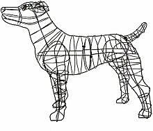 Gartenfigur Jack Russel Terrier für Moos