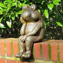 Gartenfigur Kantenfrosch Kunibert
