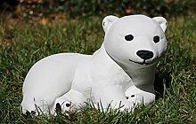 Gartenfigur Kleiner Eisbär   Garten Figur  