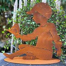 Gartenfigur Noah, Edelrost