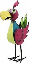 Gartenfigur Papagei, Gartendeko, Bunte lustige